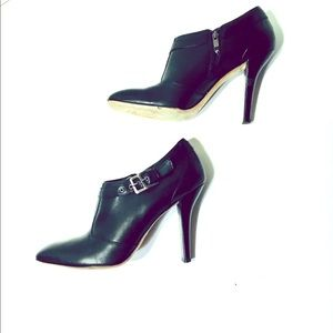WOMENS VIA SPIGA BLACK HEELED ANKLE BOOTS